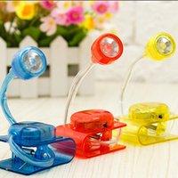 Wholesale Mini Adjustable Bright Desk LED Clip Desktop Reading Book Light Reading Table Lamp