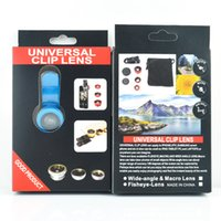 Wholesale 2016 Newest and Popular universal in cell phone Macro Wide Angle Fisheye lens Universal Clip Lens For Samsung iPhone HTC digital camera