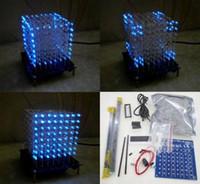 Wholesale hot sell Newbrand D mm White LED Blue Ray LightSquared DIY Kit LED Light Cube