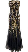Wholesale 2015 New Arrival Unique Strapless Sweetheart Sequins Paillette Tree Branch Net Mermaid Wedding Dresses Bridal Gowns for Women