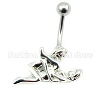 Wholesale 316L Surgical Steel G Passion Sexy Lovers Belly Button Ring Make Love Navel Barbell Bar Ring Body Jewelry