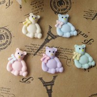 craft embellishments - 20x Mini Bear Resin Flatback Buttons DIY Embellishment Accessories Crafts
