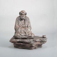 Wholesale Bodhidharma Seating Shaped Ceramics Incense Burner For Line Coil Incense Use Censer Holder Stone Stand Art Craft Collect Decor order lt no t