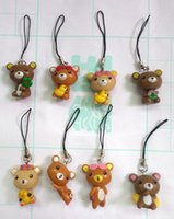 Wholesale 80 High Quality PVC Pack Rilakkuma Charm Strap for Cell Phone MP3