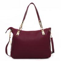 Totes leather bag - Hot Sell women messenger bag Totes bags handbag PU leather bag portable shoulder bag cross body bolsas lady Lock Chains bag