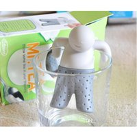 mr - AAA qaulity material Teapot cute Mr Tea Infuser Tea Strainer Coffee Tea Sets silicone fred mr tea
