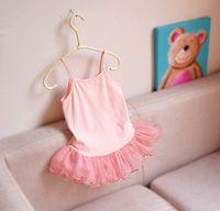 Cheap 2015 New arrival baby girl kids Korean sequin top lace tanks tops blouse shirt dress tulle gauze sling vest cotton rustling sweet princess 5