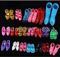 Wholesale 24 pair of boots shoes for girls doll house Random Color z1638