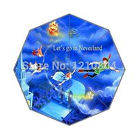 animated quotes - Custom Design Classic Animated Film amp Peter Pan Quote Return to Neverland Background Triple Folding Umbrella for women