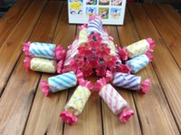 Wholesale 2016 new Wedding Supplies Sweet Candy Towel Washcloth Shaped Gift Wedding Favors Wedding Party Gifts