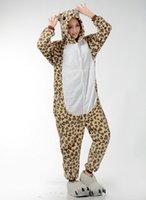 adult leopard onesie - Unisex Animal Onesie Adults Jumpsuit Hot Selling Leopard Print Pyjamas Costume Cartoon Sleepwear Kigurumi Long Sleeve Cosplay