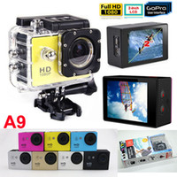 sports camcorder - Gopro P Waterproof Sports Camera SJ4000 SJ5000 Style A9 HD Action Camera Diving M LCD View Mini DV DVR digital Camcorders