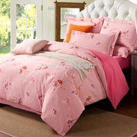 bedding dropship - Rose Floral Bedding Set Girls Cotton Skin Friendly Twin Queen King Size Duvet Cover Sheets ensembles de literie Dropship