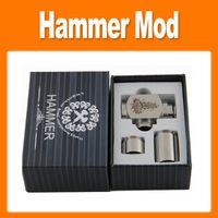 Cheap Hammer pipe Mod Kit E cigarette E pipe Mod Mechanical Hammer battery body for 510 thread atomizer electronic cigarette(0207022)
