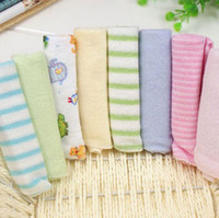 Wholesale Single Small Square Baby s Towels Baby Feeding Towel Baby Face Washers Hand Towels Cotton Handkerchief installed