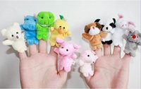 Wholesale 2015 Hot Sales Doll Baby Plush Toy Finger Puppets Talking Props animal group set