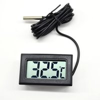 Wholesale Black LCD Electronic Fish Tank Water Detector Thermometer Aquarium Digital Thermograph Implant Y60 JJ0325 M5