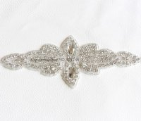 beaded motif - flower shape clear crystal rhinestone applique beaded stone trims hotfix motif clothing embellishments