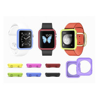 Wholesale TPU Case Watch Band for Iwatch Apple Watch Cover Wrist Strap Smart Watch Band bracelet case With OPP Package wu