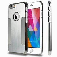 apple ebay - Hot On Ebay Double Blade Metal Aluminium Alloy PC Back Cover hybrid Armor Case For Iphone s s plus