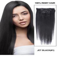 Revisiones Extensión del pelo humano clip de la cabeza llena-26