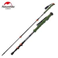 Cheap Naturehike Carbon Fiber Walking Sticks Outdoor Anti-slip Adjustable Hiking Trekking Travel Walk Stick Pole With EVA Foam Handle