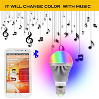 Wholesale New Arrival Bright RGB Wireless Bluetooth Smart LED Light Bulb for Android and for iOS