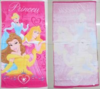 beautiful bath towels - 2015 new baby girls princess Cotton Bath Towel Children Snow White Cinderella Beach Towel Beautiful Towels for Girls