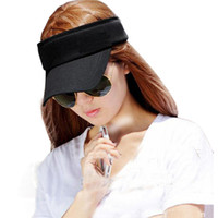 Wholesale Durable Hot Women Sun Visor Plain Sports Colors Golf Tennis Beach Hat Fast Shipping