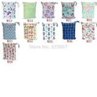 Wholesale 1 U PICK New Design Wet Dry Bag With Two Zippered Baby Diaper Bag Nappy Bag Waterproof Reusable Choices