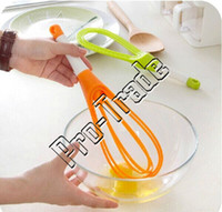 balloon whisk - 15 Inch in Rotating Silicone Balloon and Flat Whisk Twist Milk and Egg Beater Blender Color Random