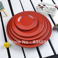 Wholesale 5 Pieces In Five Size Melamine Ware Veggie Cheese Pizza Plate