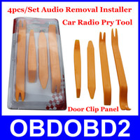auto window molding - Best Sale Set Refit Car Audio Trim Dash Pry Tool Distinctive Tool Auto Car Radio Molding Clip Refit Kits CNP