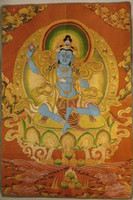Wholesale Nepal Tibetan Buddhist thangka painting gold brocade NO