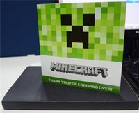 Wholesale My Minecraft World Coolie fear STEVEN JJ greeting cards postal card stocking