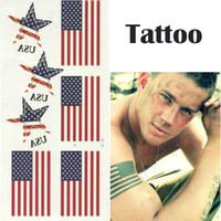 american flag sticker - New Fashion Temporary Tattoo Sleeve American Flag Pattern Fake Tattoo Stickers Waterproof Men Women Body Art