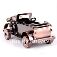 auto model collection - Fashion Vintage Bronze Statue Hot Metal Cars Auto Sedan Home Crafts Collection Model craft applique