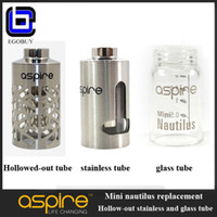 Wholesale Aspire mini Nautilus replacement hollowed out sleeve pyrex glass tank stainless T window tube for e cigarette cig Nautilus mini ml atomizer
