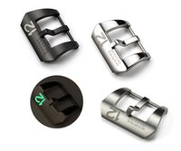 Wholesale 24mm Stainless Steel Screw in Tang Buckle Luminous Prev Metal Watch Clasp with Luminous Number for Men s Big Watch Straps Band NO