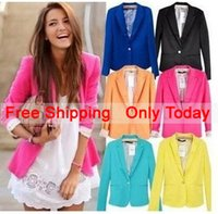 Wholesale 2015 blazer women suit blazer foldable brand jacket made of cotton spandex with lining Vogue refresh blazers