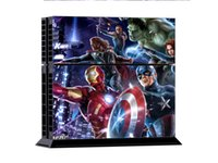 for PS4 PS4/0352  Avengers Heroes DECAL SKIN PROTECTIVE STICKER for SONY PS4 CONSOLE CONTROLLER