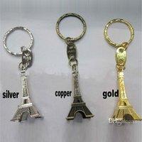 eiffel tower - Romantic Eiffel Tower Key Chains Retro Metal Wedding Favors Advertising Gift Key Ring cm Metallic Model love024