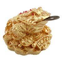 Wholesale Feng Shui Money LUCKY Fortune Wealth Oriental Chinese I Ching Toad Coin Home New three legged ornaments