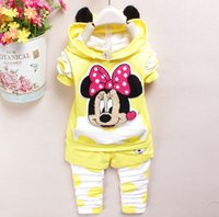Cheap Spring autumn kids hoodie+pant set 2 pieces girl long sleeve cartoon clothes suit 100% cotton