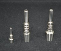 Wholesale 2015 Nectar Collector Titanium Nail Joints mm mm mm GR2 titanium nails for Honey Dab Straw Concentrate Glass Water Pipe Bong Oil Rigs