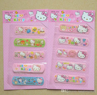 band aid baby - 5pcs set Cute Hello KT Waterproof Band aid bandage sticker baby Kids care first band aid Travel Camping Medical Emergency kit A5