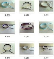 Wholesale Friendship bracelet bracelets make of silver heart shape handmade bracelets