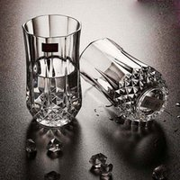 Cheap Heat Resistant 2 pcs Crystal Wine Glass Cup Juice Beer Tumbler Mug 360ml Whisky Vodka Glasses Drink Cups Party Bar Tools Decors order<$18no