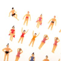 beach layout - 20pcs OO Scale Painted Model Beach People Figures Plastic Model People for layout and landscape models order lt no track