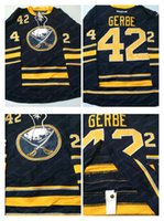blue buffalo - Mens Nathan Gerbe Navy Blue Home Carcillo Buffalo Sabres Ice Hockey Jerseys Embroidery NHL Premier Authentic Sports Cheap Discount